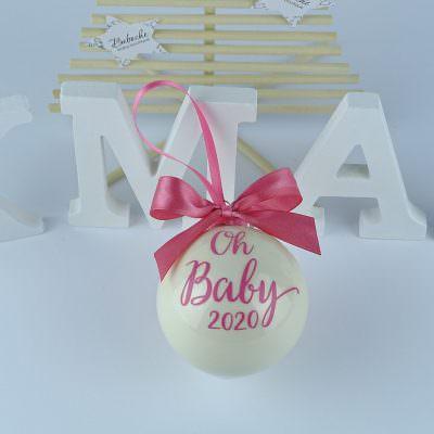 Персонализиранa коледнa топкa за бебе