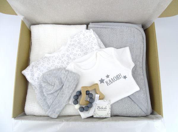 Персонализирана подаръчна кутия за погача на бебе момче