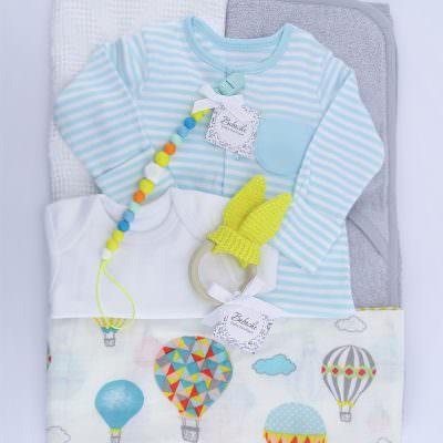 Подарък за погача на новородено бебе момче