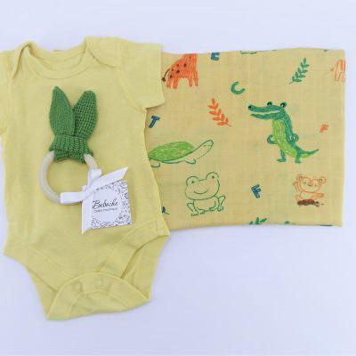 Кутия подарък за погача на новородено момче