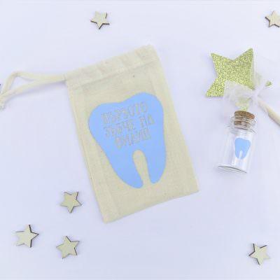 Персонализирана торбичка за зъбче на бебе момче