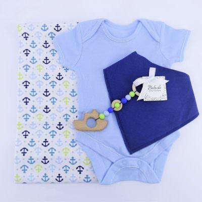 Кутия подарък за 40 дни на новородено момче