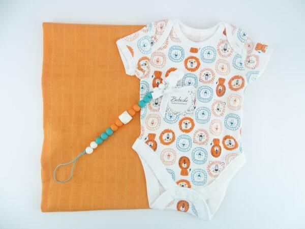 komplekt-za-bebe-s-oranjeva-pelena-i-bodi-s-luvcheta